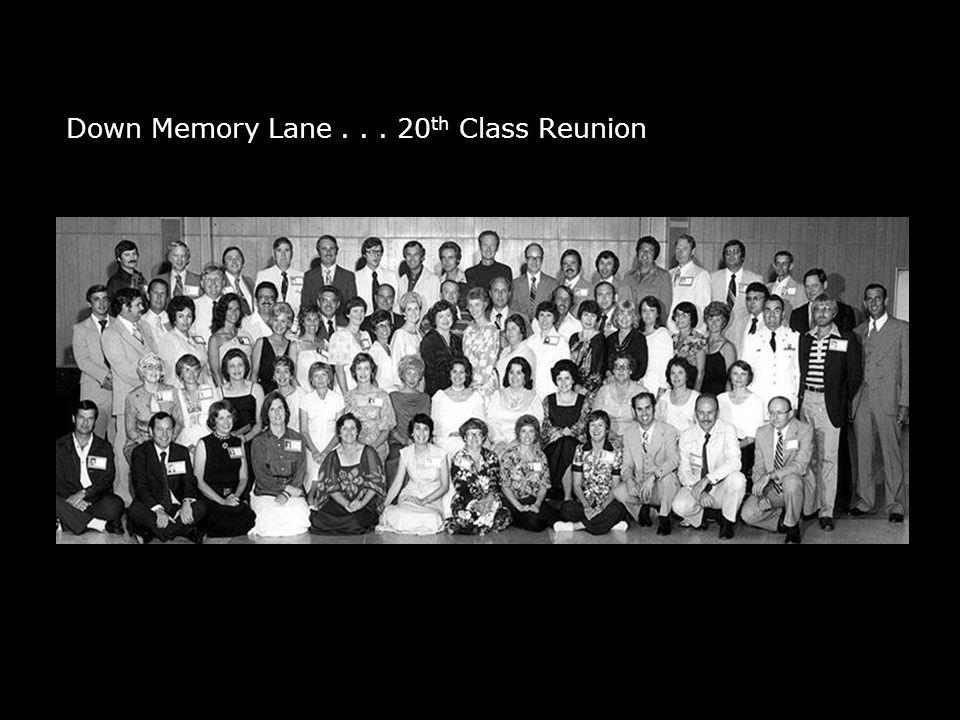 Down Memory Lane... 20 th Class Reunion