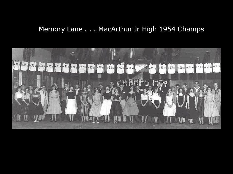 Down Memory Lane... MacArthur Jr High 1954 Champs