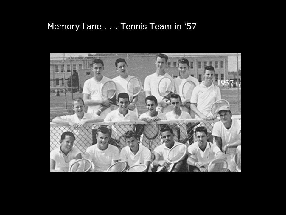 Down Memory Lane... Tennis Team in '57
