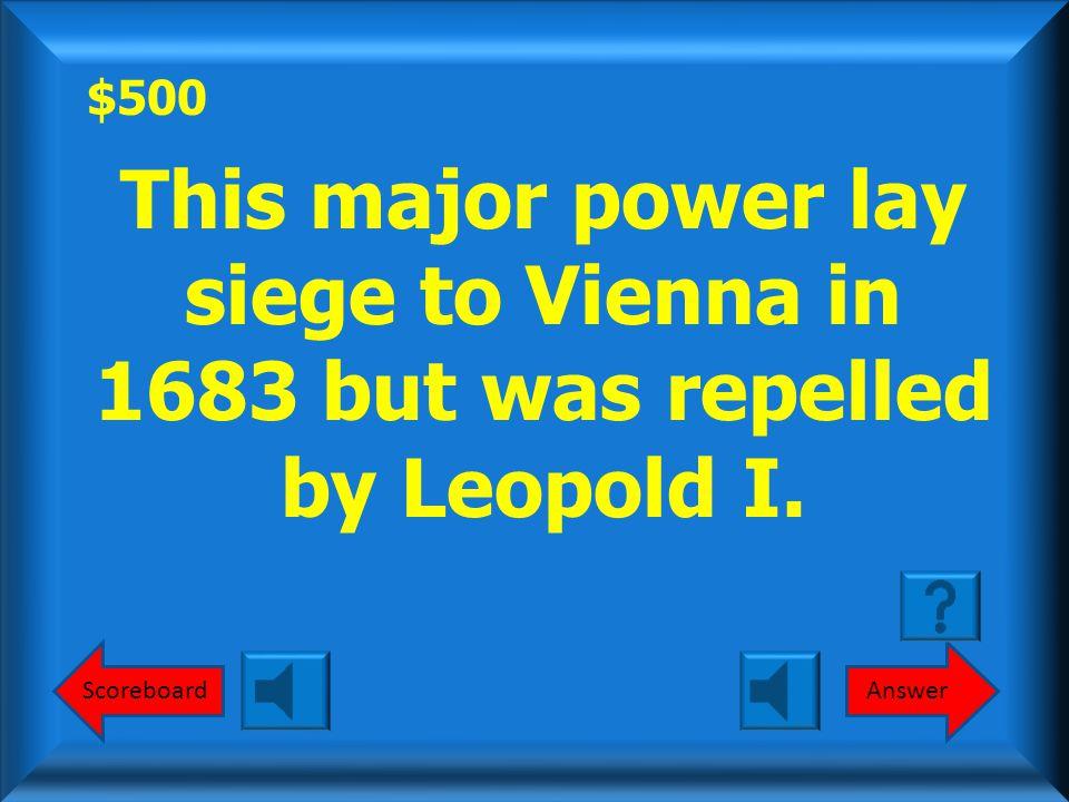 $400 Round 1 Holy Roman Empire, Ottoman Empire Polish Kingdom What was the Holy Roman Empire, Ottoman Empire and Polish Kingdom