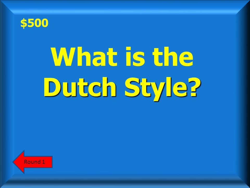 $500 ScoreboardAnswer Jan Vermeer was a major figure in this art style.