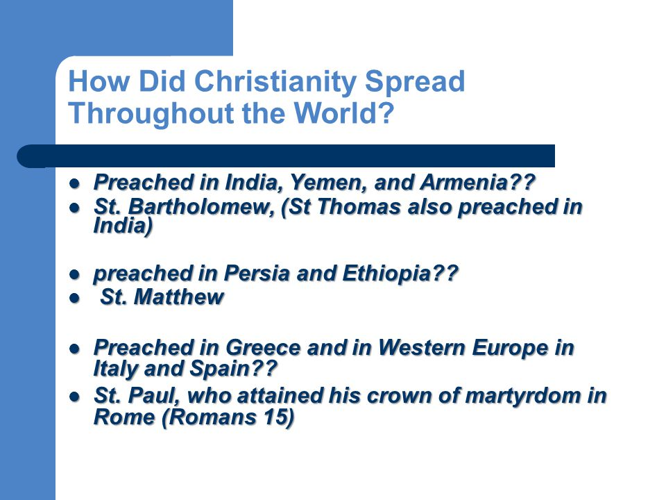 Preached in India, Yemen, and Armenia?. Preached in India, Yemen, and Armenia?.