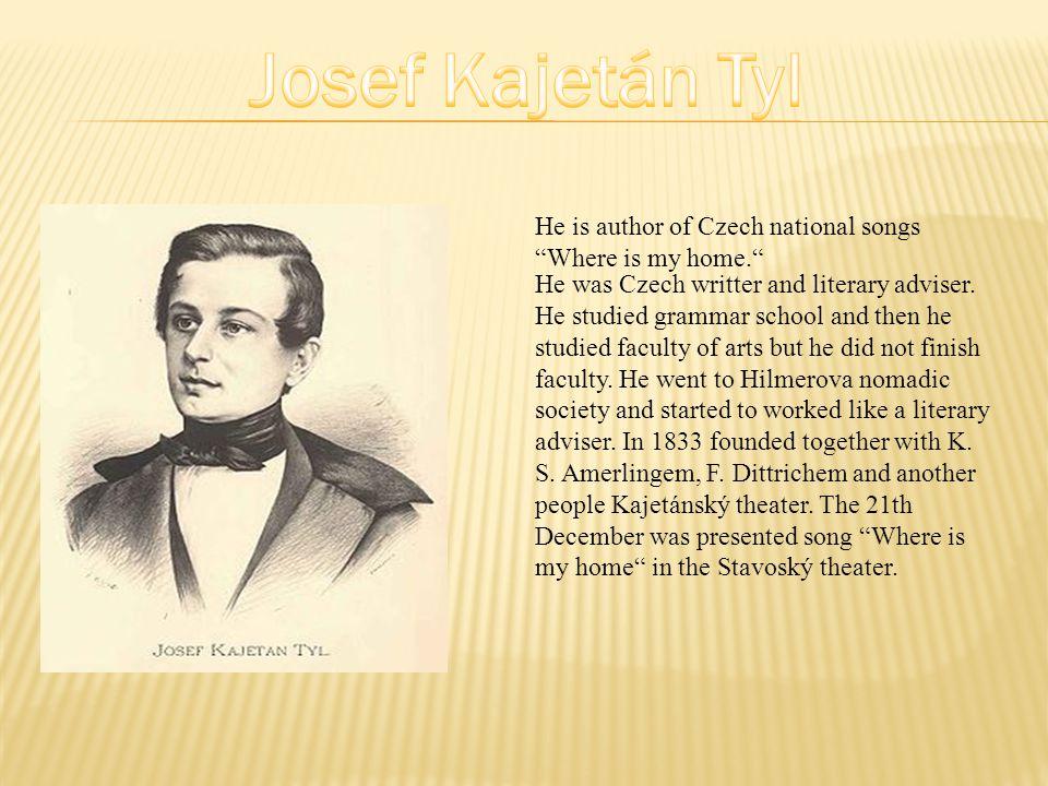He was Czech writter and literary adviser.