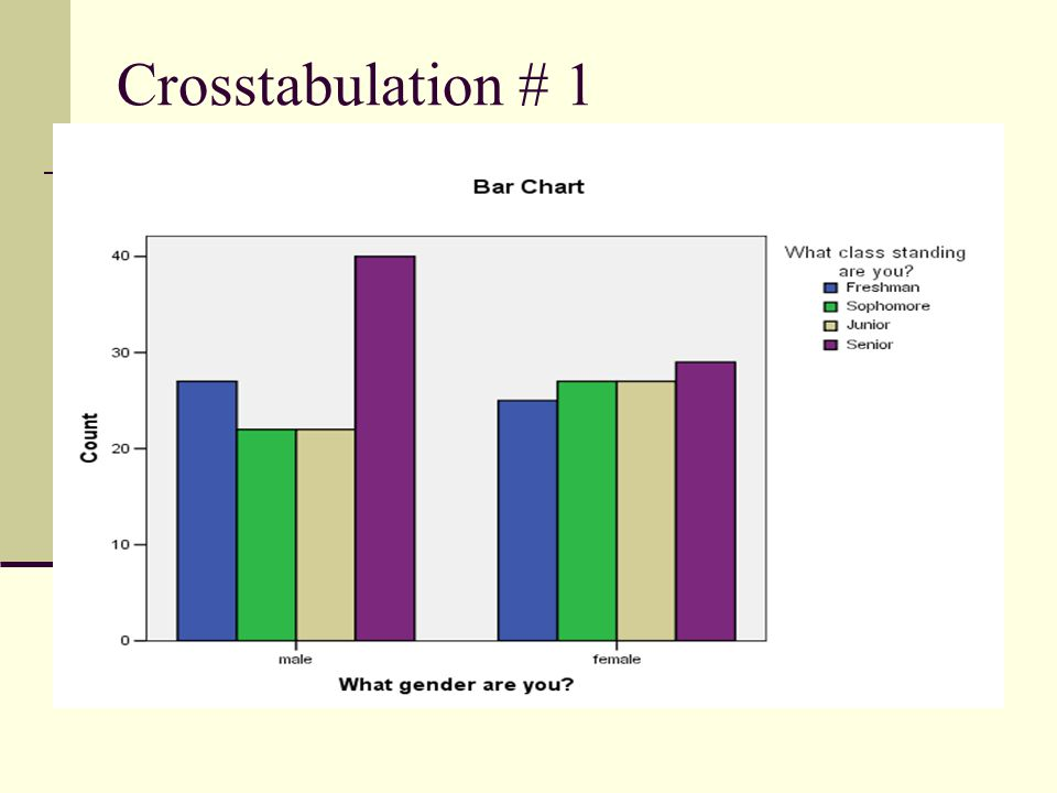 Crosstabulation # 1