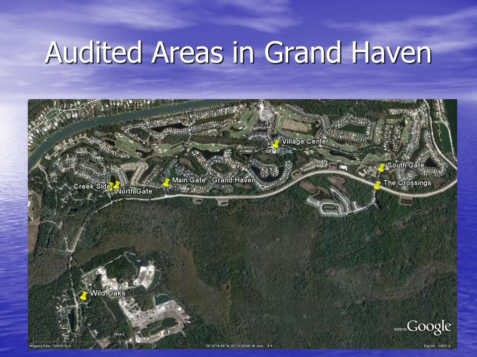 Audited Areas in Grand Haven