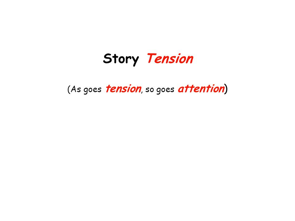 Story Tension (As goes tension, so goes attention)