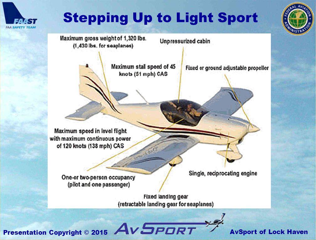 AvSport of Lock Haven Stepping Up to Light Sport Presentation Copyright © 2015