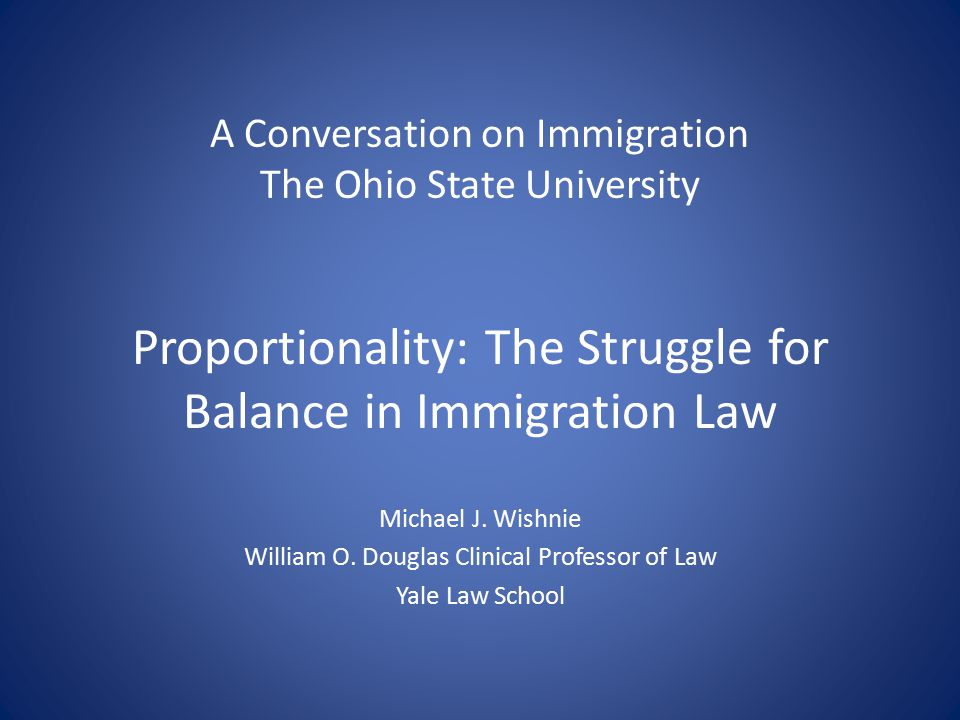 Proportionality Review by IJs and BIA INA § 240(c)(1)(A): At the conclusion of the proceeding the immigration judge shall decide whether an alien is removable from the United States. Canon of constitutional avoidance compels interpretation of statutes to avoid constitutional difficulty Construction of INA that permitted disproportionate removal violates canon