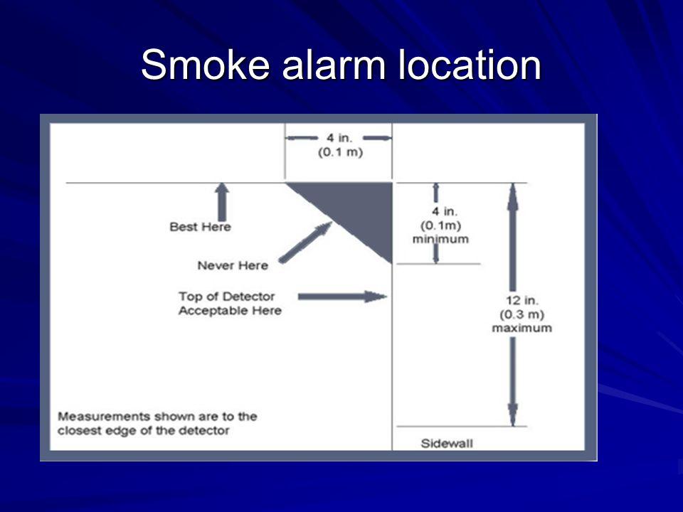 Smoke alarm location