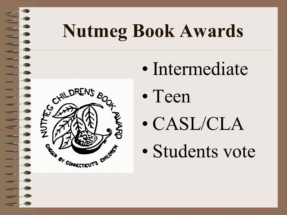 Nutmeg Book Awards Intermediate Teen CASL/CLA Students vote