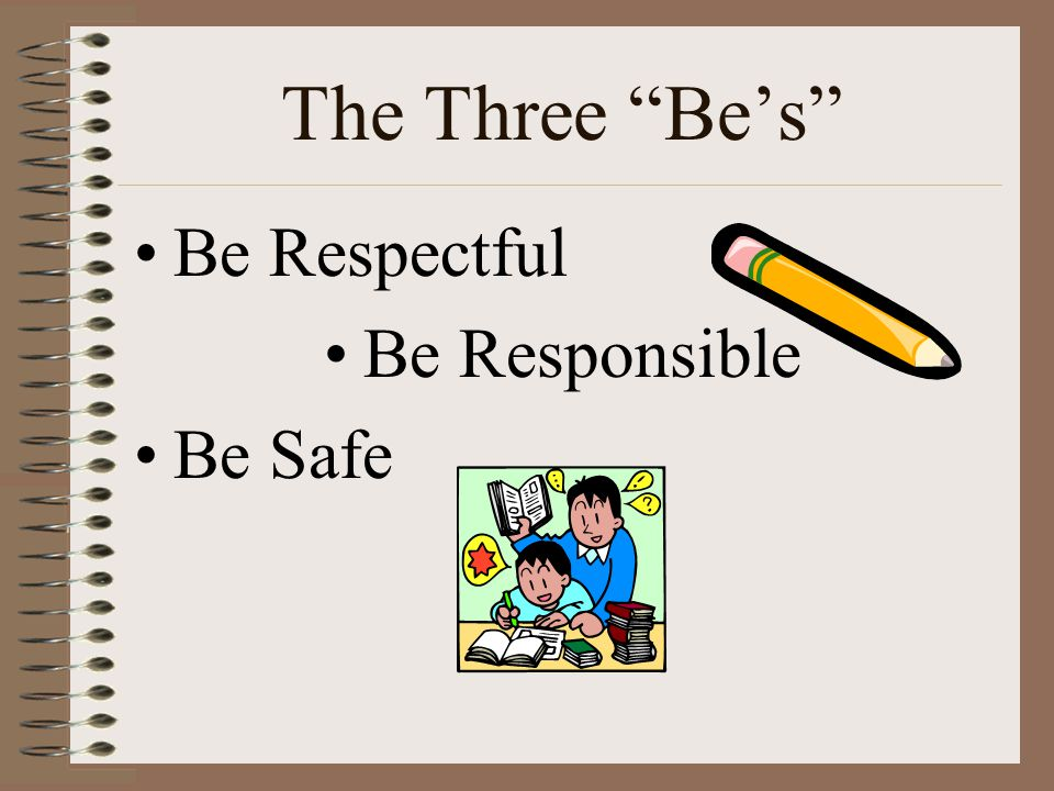 The Three Be's Be Respectful Be Responsible Be Safe