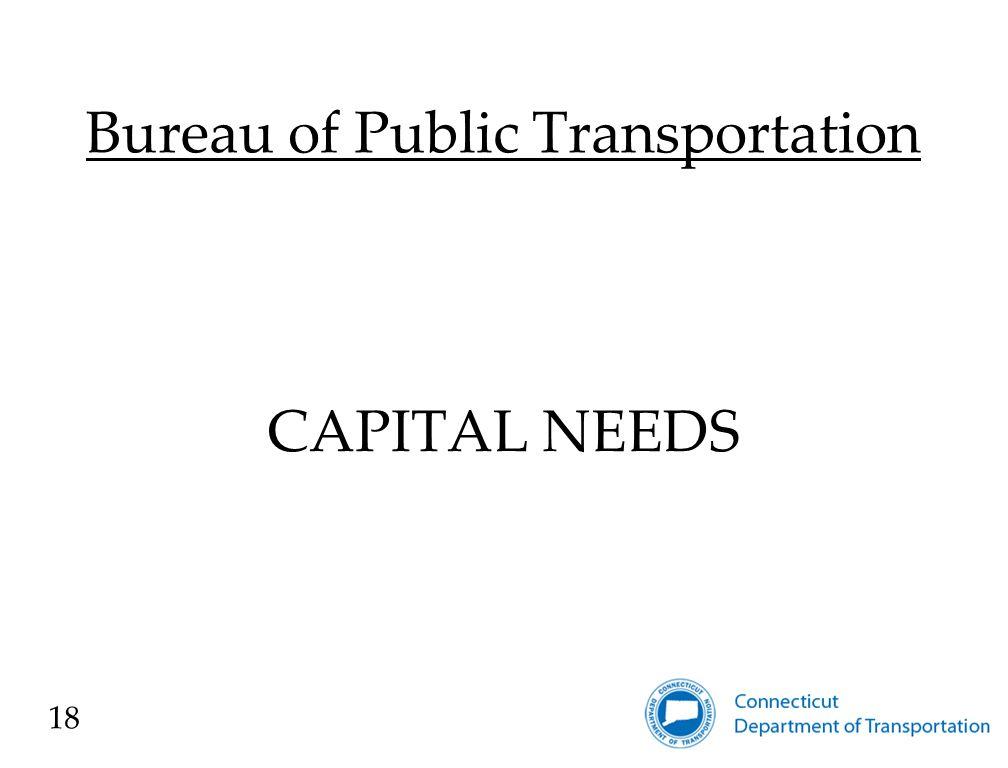 Bureau of Public Transportation CAPITAL NEEDS 18