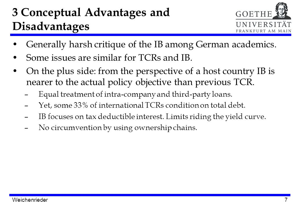 7 Generally harsh critique of the IB among German academics.