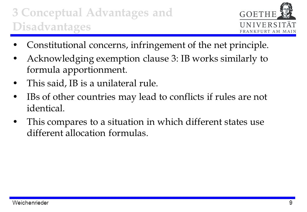 9 Constitutional concerns, infringement of the net principle.