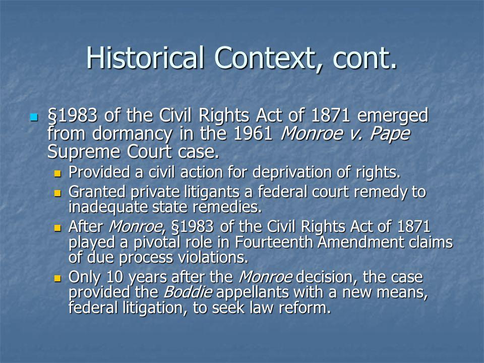 Historical Context, cont.