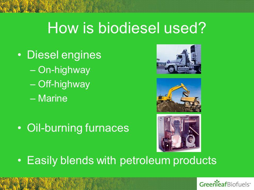 How is biodiesel used.
