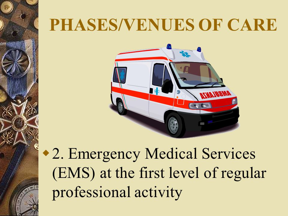 PHASES/VENUES OF CARE  2.