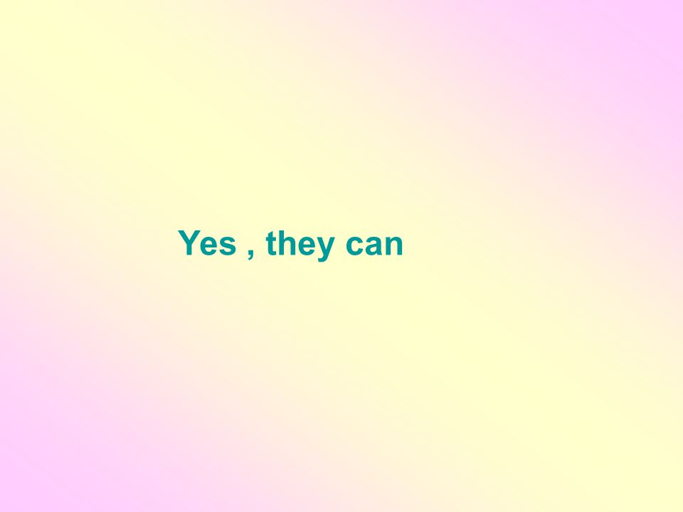 Yes, they can