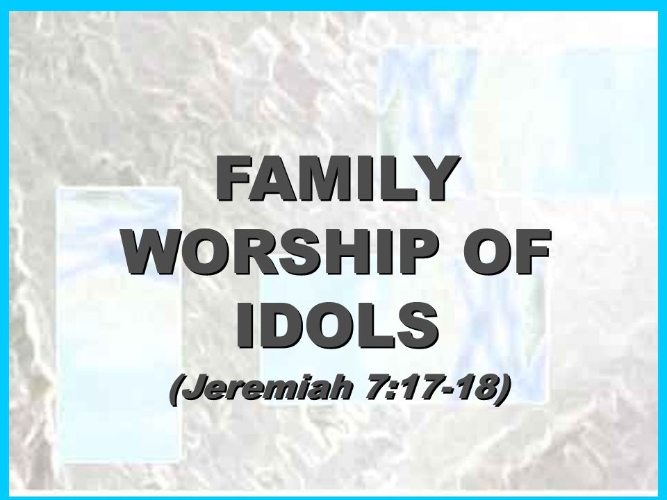 WHY IT ANGERED THE LORD: u u It directed the worship due to Jehovah to strange gods that originated in the minds of men (Ex.