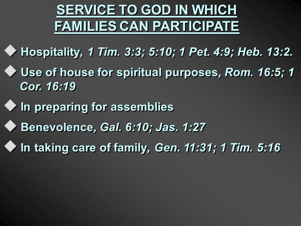 FAMILY WORSHIP OF IDOLS I.THE HOME AS A SAFE HAVEN, Jer.