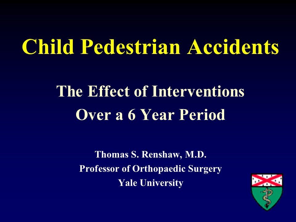 Pediatric trauma in the USA Kills more children than all diseases combined Each year 22,000 deaths