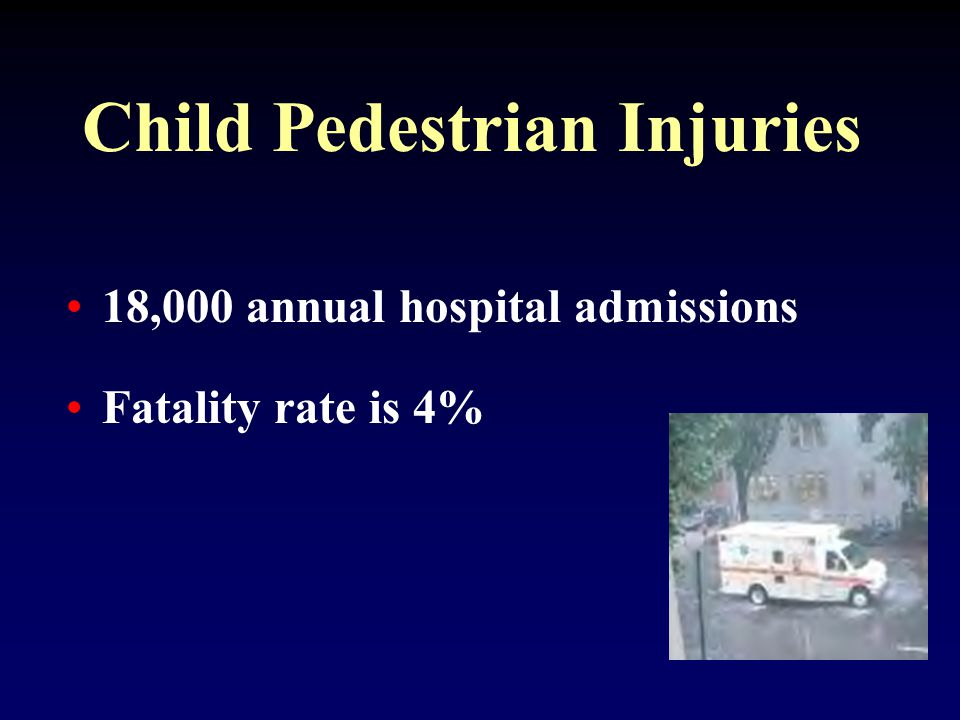 Child pedestrian injuries in New Haven, CT have been reduced by 61% over a six year period.