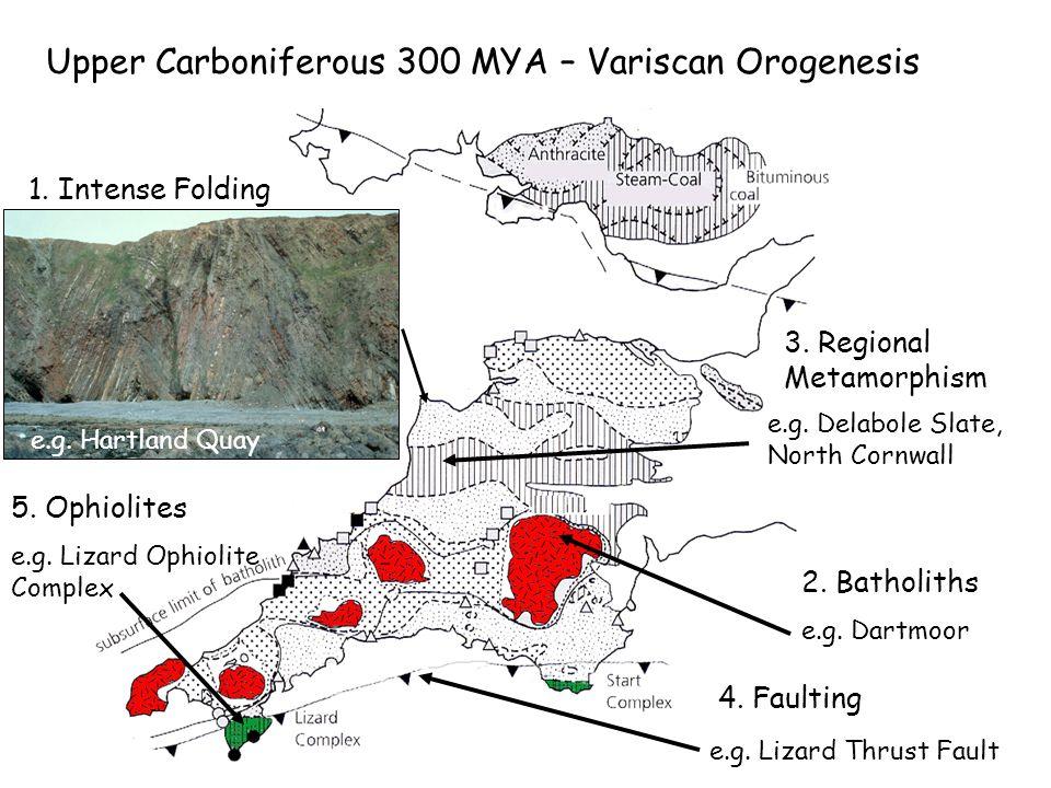 Upper Carboniferous 300 MYA – Variscan Orogenesis 1.