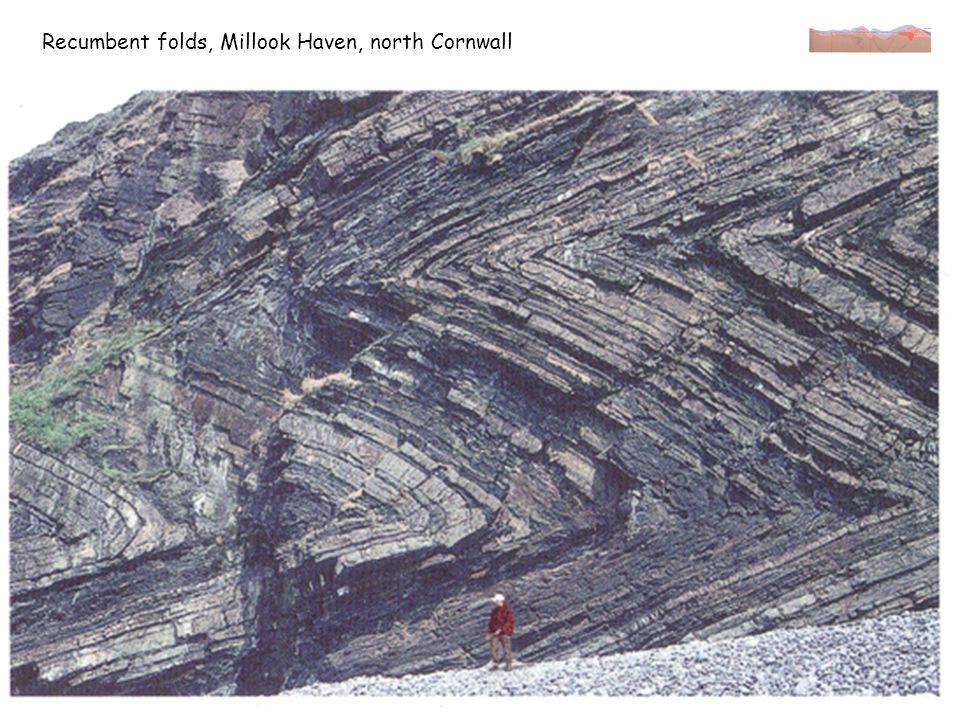 Less intense, more irregular folds, Bude, Devon