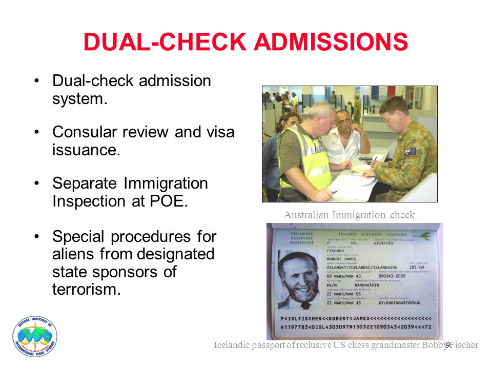 9 DUAL-CHECK ADMISSIONS Dual-check admission system.