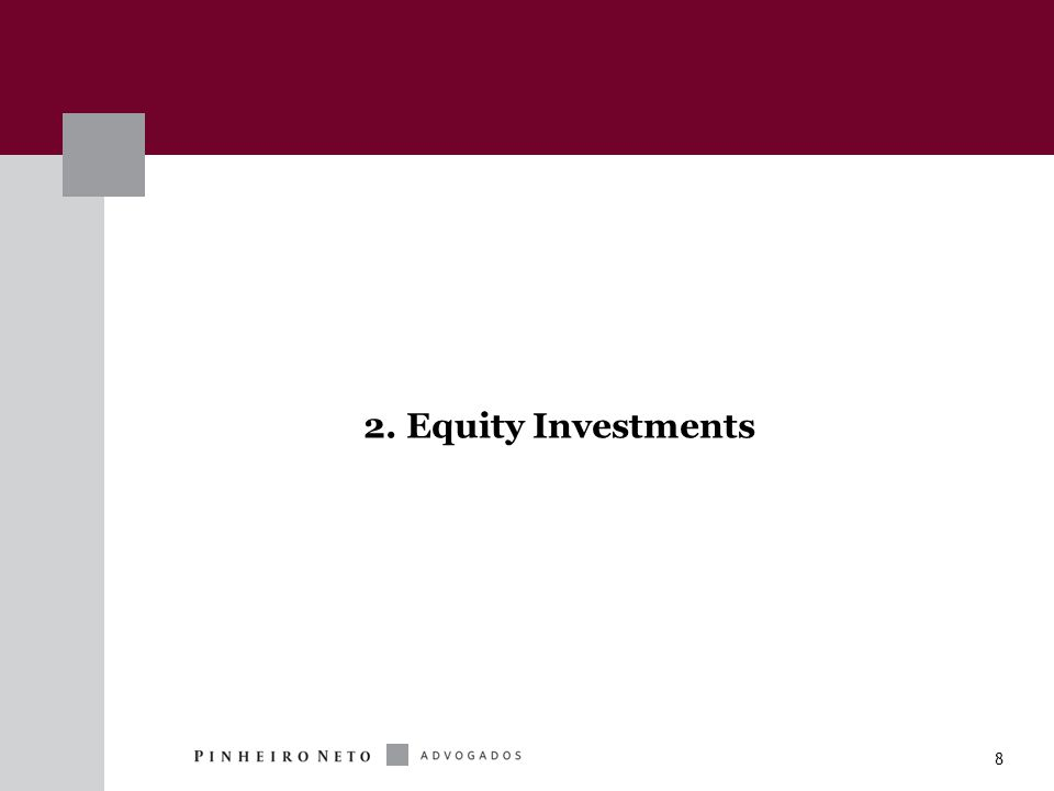 19 FIP Investments Investments in securities representing equity  Investments Permitted: (a) shares (b) debentures (c) subscription bonds (d) other securities that can be converted in or exchanged for shares  All securities above may be issued by either publicly-held or closely- held companies.