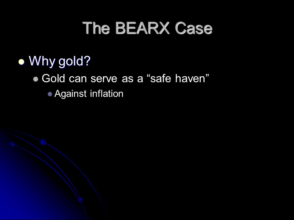 "Why gold? Why gold? Gold can serve as a ""safe haven"" Against inflation"