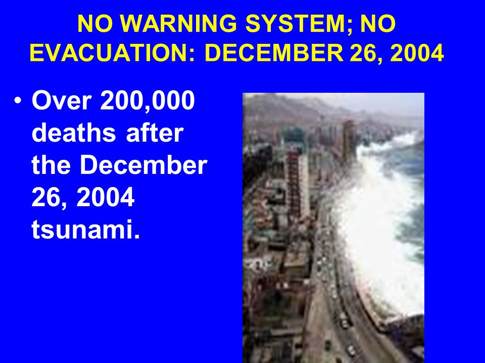 TSUNAMI (JAPAN): ADVANCE WARNING OF 10-15 MINUTES TOO SHORT FOR AN EFFECTIVE EVACUATION: MARCH 2011