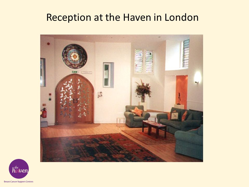Reception at the Haven in London