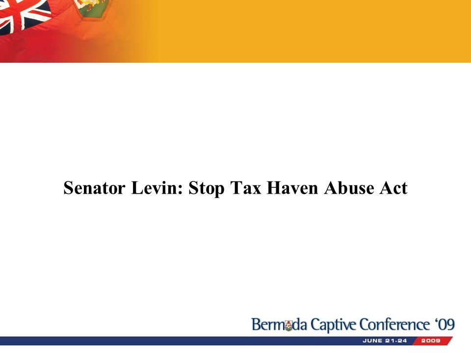Senator Levin: Stop Tax Haven Abuse Act