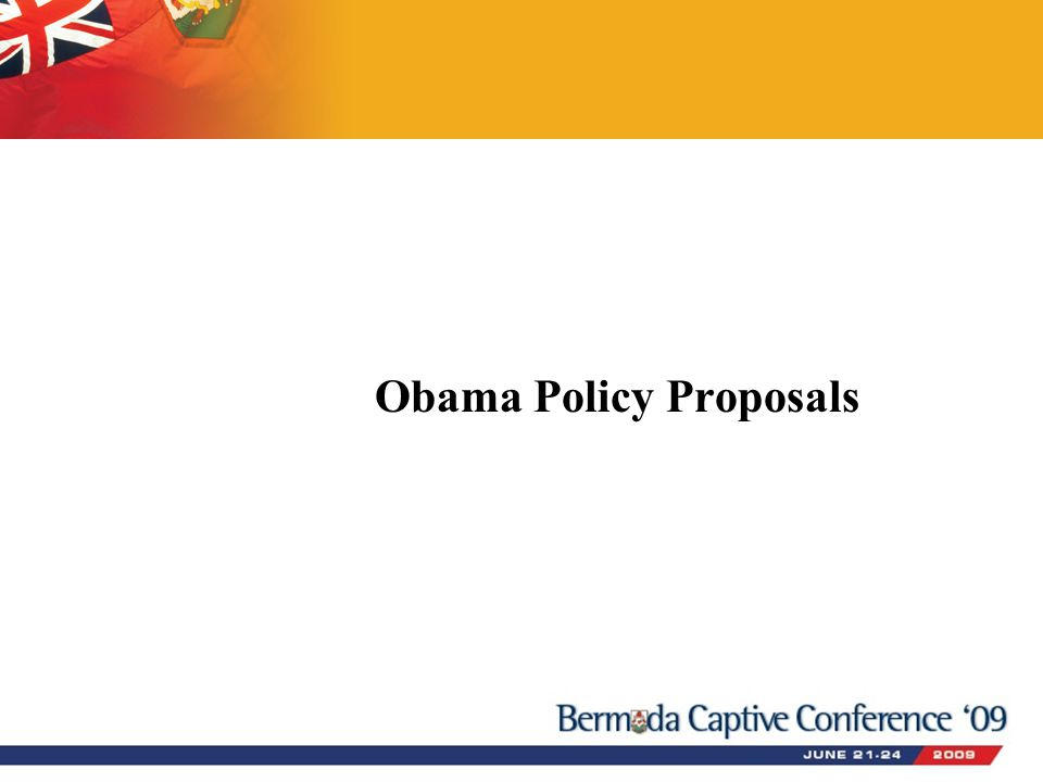Obama Policy Proposals