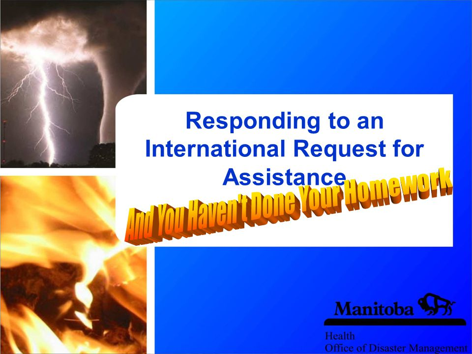 Responding to an International Request for Assistance