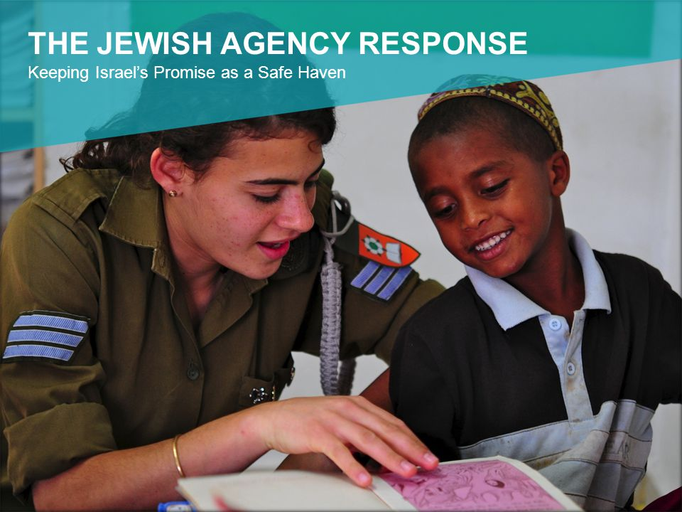 THE JEWISH AGENCY RESPONSE Keeping Israel's Promise as a Safe Haven