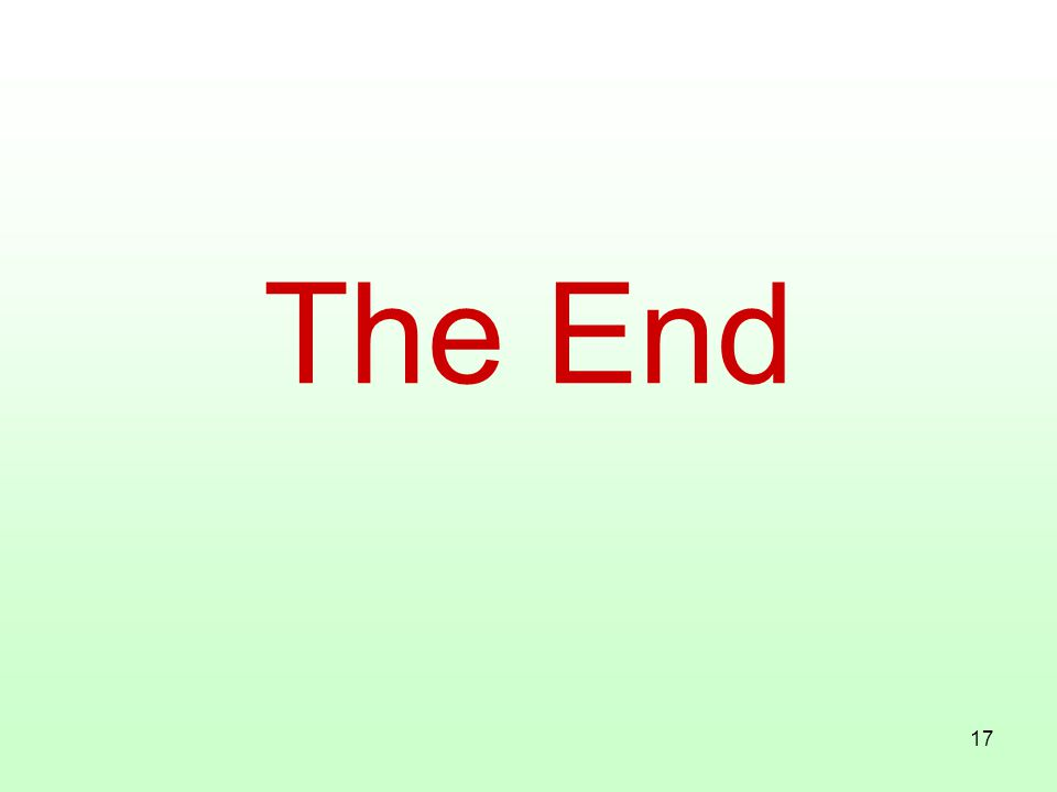 17 The End