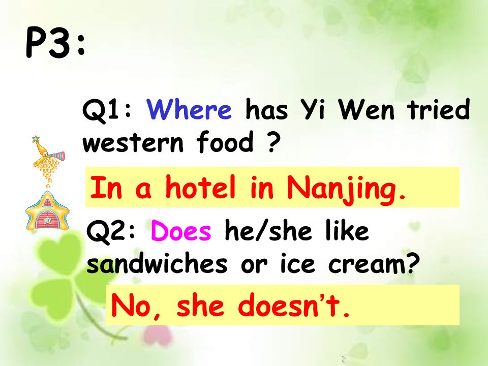 P2: Q1: When does Han Li visit his grandparents . Q2: Why does he like San Francisco.