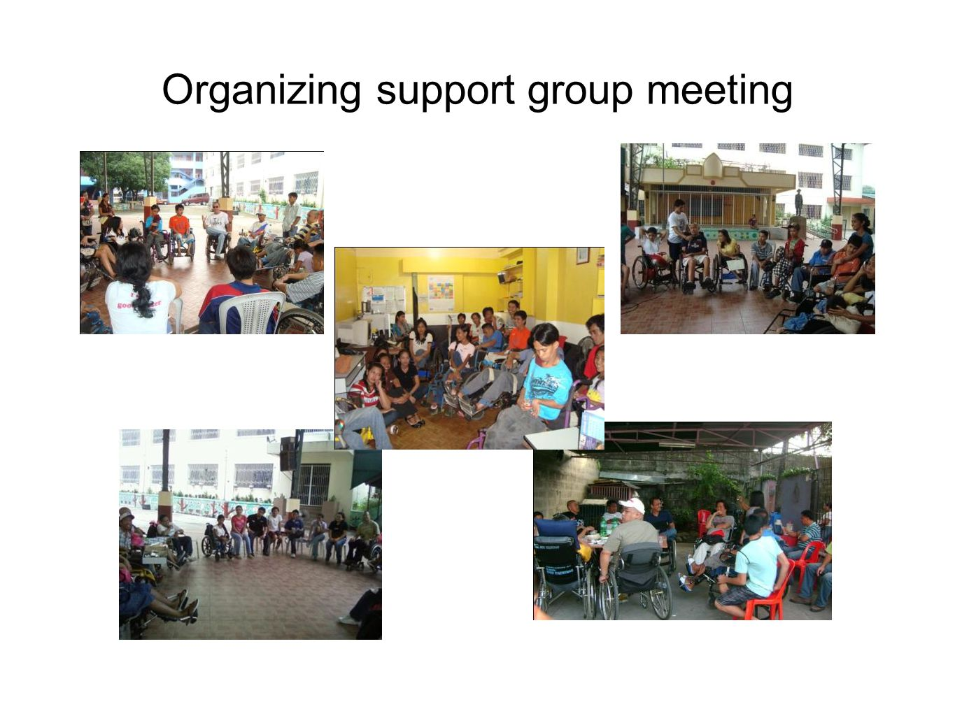 Organizing support group meeting