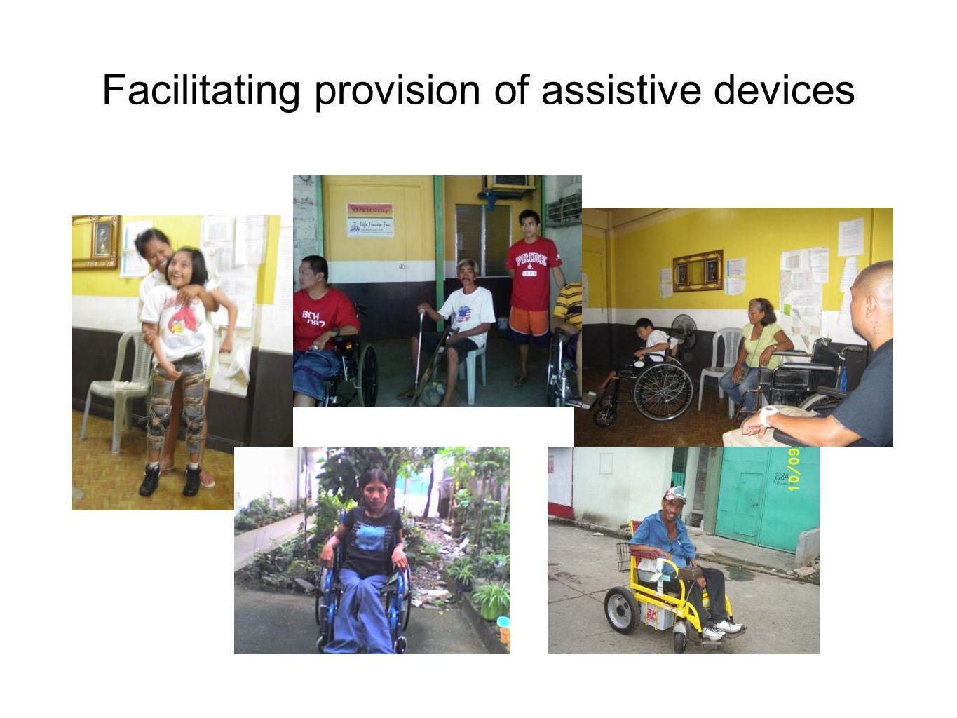 Facilitating provision of assistive devices