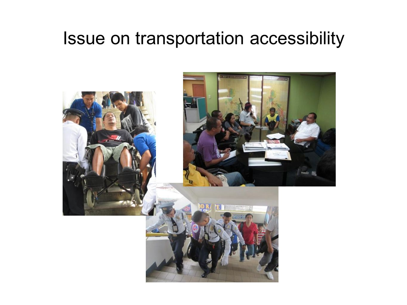 Issue on transportation accessibility