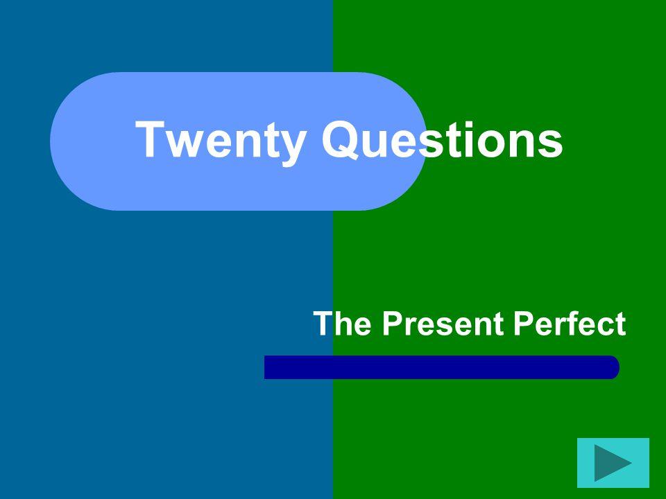 Twenty Questions The Present Perfect