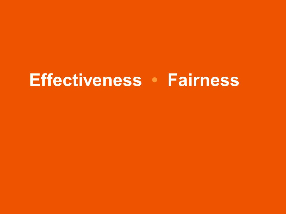 Effectiveness Fairness