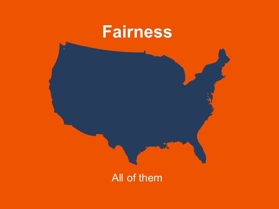 Fairness All of them