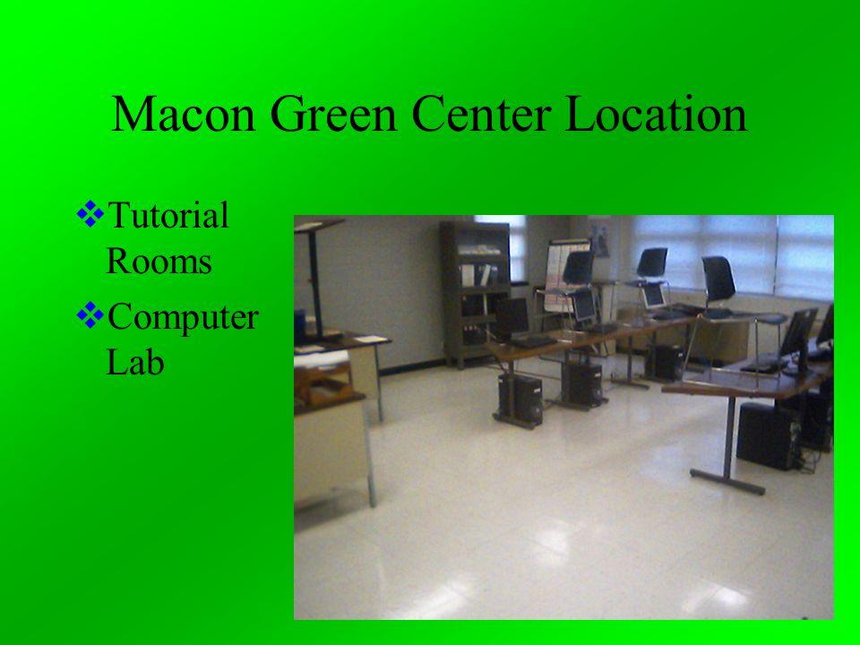 Macon Green Center Location  Tutorial Rooms  Computer Lab