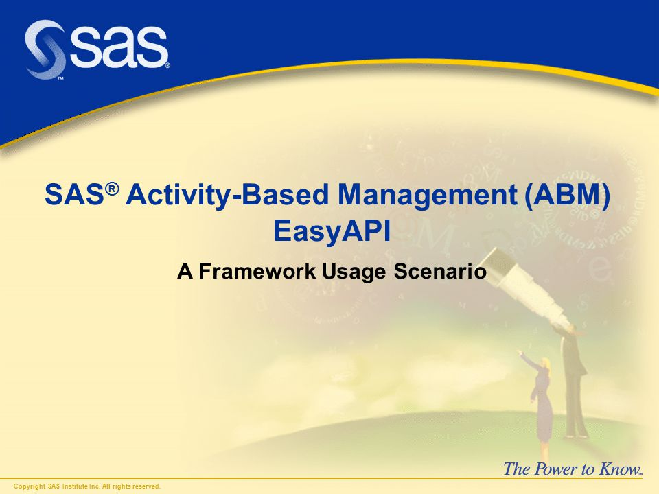 Problem: You want to automate SAS © Activity-Based Management (ABM) data updates using the Application Programming Interface (API).
