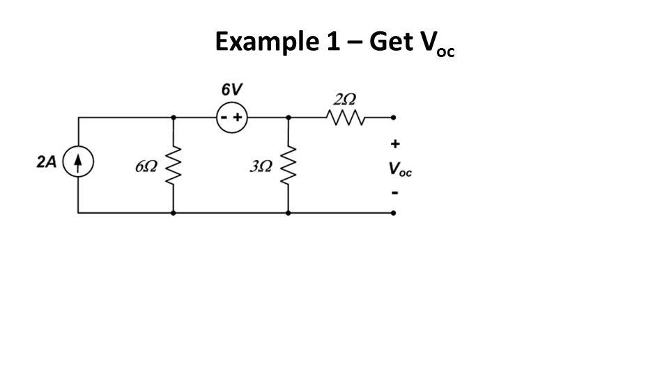 Example 1 – Get V oc