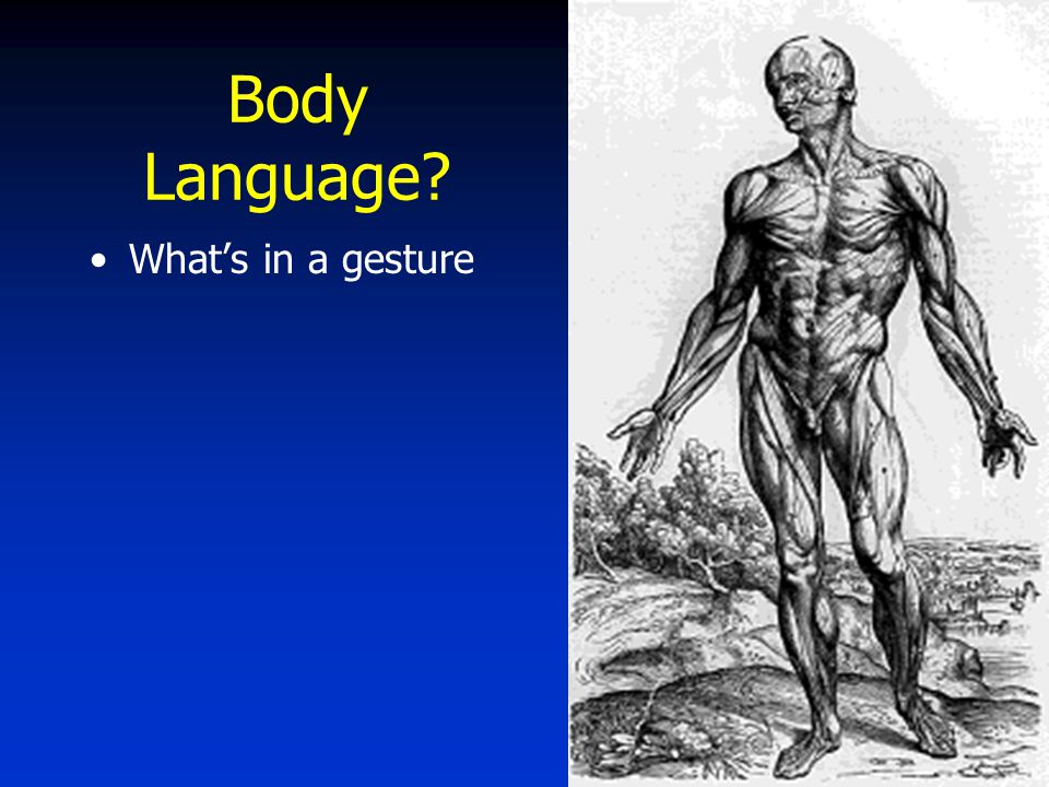 Body Language What's in a gesture