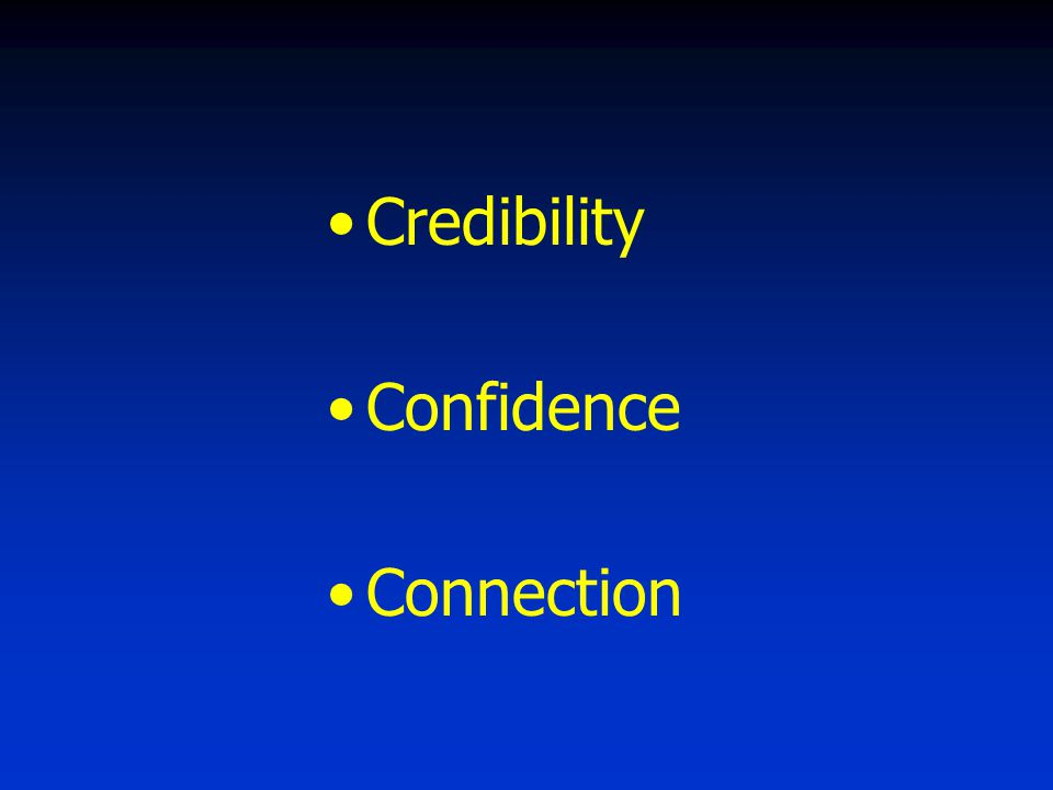 Credibility Confidence Connection